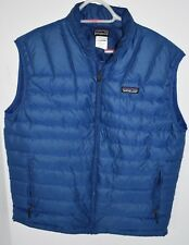 Men's Patagonia Down Sweater Puffer Blue Vest Sz M Medium