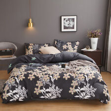 Printed Quilt Duvet Cover + Pillow Case Bedding Set Twin Queen King All Size