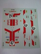 DECALS KIT 1/43 FERRARI 365 GTB4 DAYTONA N.47 LE MANS 1975 DECALCOMANIA