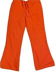 Cherokee Workwear Orange Sorbet Petite 4101P ORSW Flare Leg Scrubs Pants, size s