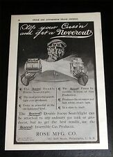 1908 OLD MAGAZINE PRINT AD, NEVEROUT, DOUBLE FOCUS SPOTLIGHT, STOP YOUR CUSS'N!