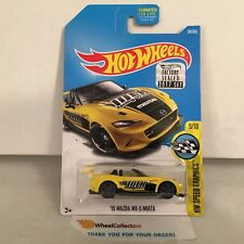 '15 Mazda MX-5 Miata #80 * Yellow * 2017 Hot Wheels FACTORY SET * B28