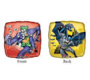 BATMAN  & JOKER 2 sided Dark Knight Comic Cartoon Birthday Party Balloon