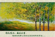 """HH254 Large Modern decoration art Hand-painted oil painting Tree No Frame 48"""""""