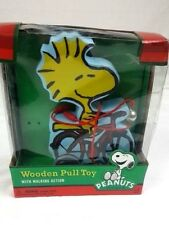 Peanuts Woodstock Wooden Pull Toy Walking Action Charlie Brown 2013 Bells