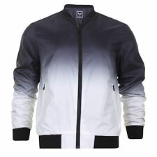 Mens Brave Soul Light Weight Jacket Zip up Bomber Check Camo Jacket Coat