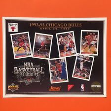 1992/93 Chicago Bulls Upper Deck Commemorative Sheet Scottie Pippen Paxon Grant