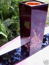 RARE Retro SONE ORIGINAL Japan WAJIMA WOODEN LAQUER WARE Vase Set - in Australia