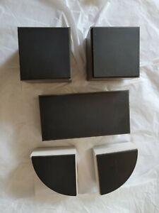 Swarovski Figurine Display Stands Gray Black Ivory Plastic Store Prop