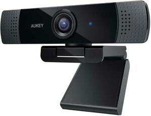 Aukey Webcam Full HD 1080p, Stereo Microphone Web Camera (Windows, Mac, Android)