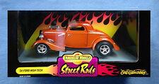 1934 FORD HIGH TECH STREET RODS 1:18 DIE CAST CAR AMERICAN MUSCLES ERTL 34 ROD