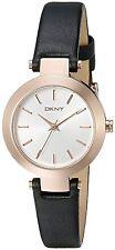 DKNY Women's NY2458 'Stanhope' Black Leather Watch