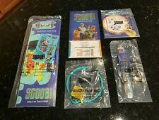 Carl's Jr Kids happy meal toy set lot of 4 toys + kids meal bag SCOOBY DOO SCOOB