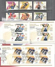 GB 2012 Olympiic's  First Day Covers, Fine used Mini  Sheets, Sets and Singles