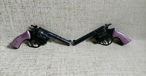 Revolver Toy by ALFA Lot x 2 Plastic New no box Made in Greece Vintage