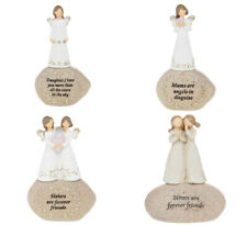Angel Stones Figure Ornament Gift Home Decoration Message Mum Sister Daughter