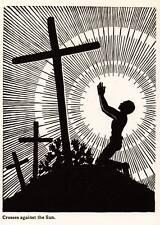 "Original Art Deco Vintage Print 1937 Don Blanding ""Crosses Against the Sun"""