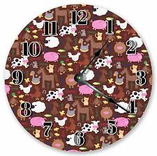 "10.5"" MULTICOLOR FLORAL CLOCK - Large 10.5"" Wall Clock - Home Décor Clock - 3014"