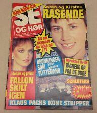 """Pamela Sue Martin Fallon Colby Dynasty Vtg Danish Magazine 1985 """"Se og Hoer"""""""