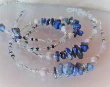 Spectacle Sunglasses Eyewear Beaded Chain - Lapis Lazuli Blue & Silver