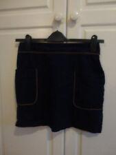Preciosa falda corta para mujer 100% algodón por Topshop Talla 12 Perfecto Estado