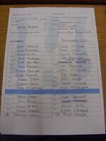 26/01/2016 Colour Teamsheet: Lye Town v Birmingham City [Birmingham Senior Cup]