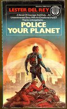 Police Your Planet by Lester del Rey-Vintage Ballantine/Del Rey PB-1981