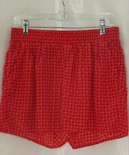 A.N.A. Women's Medium Red Geometric Elastic Waistband Pockets Short Shorts New.
