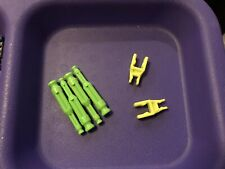 Knex Lot 6 - (4) Micro Neon Green Transition Rods - (2) Neon Yellow Connectors