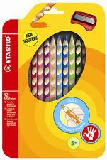 Stabilo Farbstift Easycolors im 12er Etui für Rechtshänder mit Spitzer