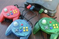 HORI STYLE Retro-Bit Tribute 64 Controller Nintendo N64 Clear Blue, Green, Red