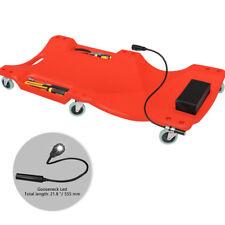 "Workshop Mechanic Plastic 40"" Car Creeper Board With Led Light Polyethylene Red"