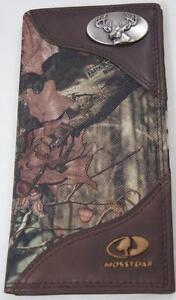 ZEP-PRO BUCK DEER Leather & Nylon roper MOSSY OAK Camo  WALLET ONLY NO BOX