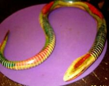 """Dominican all wood 32"""" coiled snake very flexible looks feels real excellent con"""