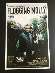 FLOGGING MOLLY ((CLOSEOUT!)) HAWAII CONCERT POSTER W/SPECIAL GUEST.