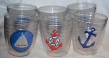 Tervis lot of 6 SAILBOAT ANCHOR boat theme glasses tumblers nautical