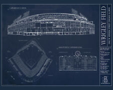 Chicago Wrigley Field Blueprint  - 8x10 Photo