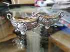 2 Edouard Ernie Salt Spoons and Cellars French Sterling Silver 950 / 1000