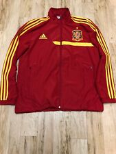 Adidas R.F.C.F Spain Soccer National Team Red Zip-Up Wind Jacket Size Large Rare