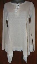 NWT UMGEE USA TUNIC top SHIRT WESTERN BLOUSE cowgirl vintage taupe LARGE gypsy