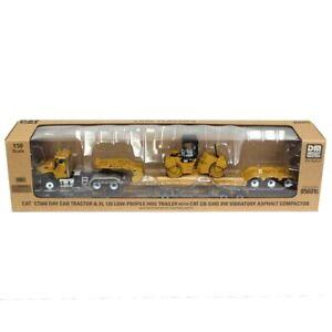 1/50 Caterpillar CT660 Truck & Lowboy Towing Cat CB-534D - Diecast Masters 85601