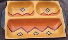Gently Used Ceramic World Market Chips and Dip Plate - VGC - GREAT FALL COLORS