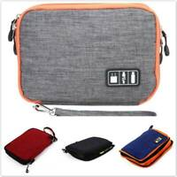 Travel Double-layer Waterproof Storage Bag Case Cover iPad Data Cable Organizer