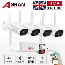 Home Security System Wireless 8CH IP Camera CCTV 3MP 1TB Outdoor WiFi Audio Kit