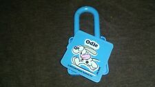 VINTAGE 1978 GARFIELD ODIE BLUE LOCK/PADLOCK CEREAL PREMIUM UNIQUE COLLECTOR TOY