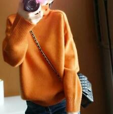 Winter Ladies Turtleneck Knitting Tops Sweaters Cashmere Warm Soft Loose Jumpers
