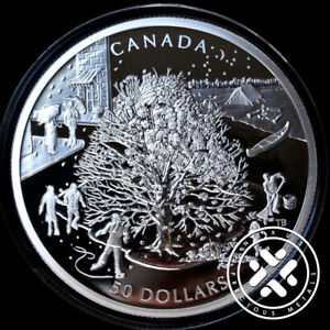 2006 NGC PF 69 Ultra Cameo $50 5 oz Proof Four Seasons Silver Canadian Coin