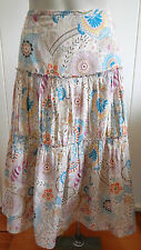 Sportscraft fine cotton printed boho tiered full skirt size 8 (US 4)