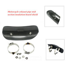 1x Motorcycle Exhaust Muffler Pipe Carbon Fiber Heat Middle Section Shield