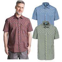 Trespass Juba Mens Short Sleeved Checked Shirt Casual Summer Top